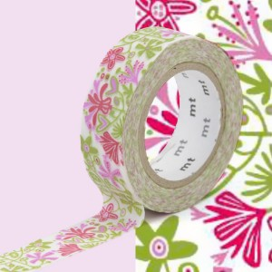 Taśma washi mt masking tape 15 mm - PINK ALMA