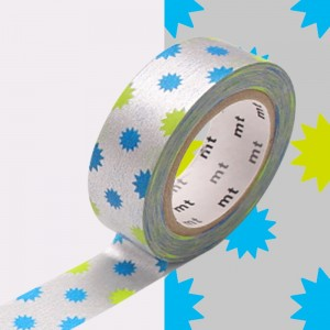 Taśma washi mt masking tape 15 mm KIRAKIRA SILVER