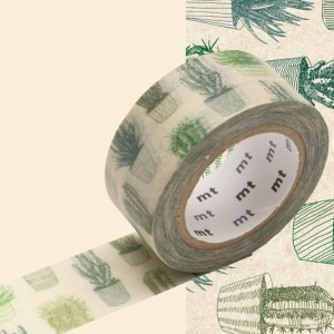 Taśma washi mt masking tape 20 mm - kaktus