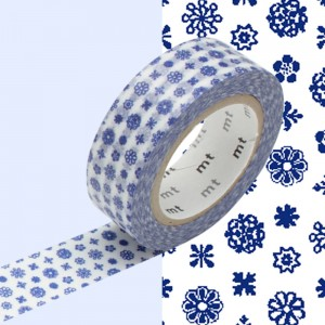 Taśma washi mt masking tape 15 mm - mini kwiaty