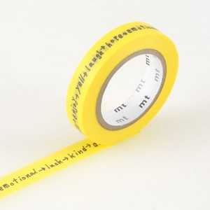 Taśma washi mt masking tape 9 mm - SHIRITORI YELLOW