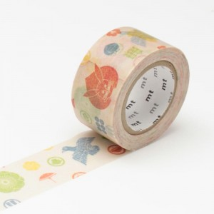 Taśma washi mt masking tape 25 mm - Kamon