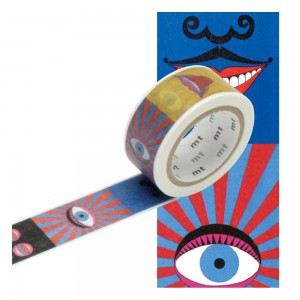 Taśma washi mt masking tape 20 mm - Oko i usta