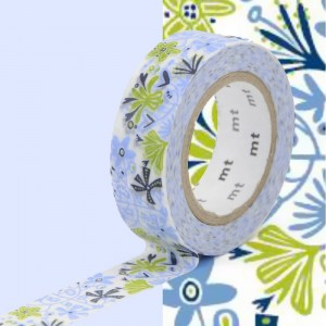 Taśma washi mt masking tape 15 mm - BLUE ALMA