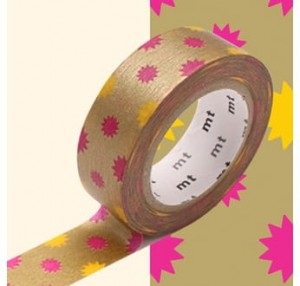 Taśma washi mt masking tape 15 mm KIRAKIRA GOLD