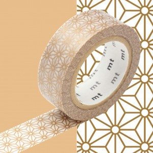Taśma washi mt masking tape 15 mm - ASANOHA  złota