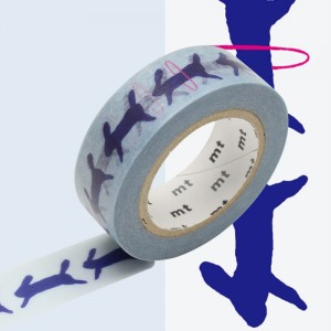 Taśma washi mt masking tape 15 mm - RUN RUN RUN